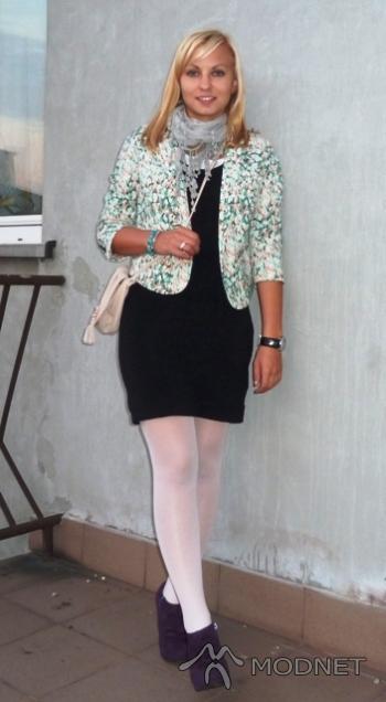 Sukienka H&M, Rybnik Plaza Rybnik; Marynarka H&M, Rybnik Plaza Rybnik