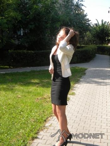 Sukienka NO NAME, Tani Ciuszek Łuków; Marynarka NO NAME, http://www.allegro.pl
