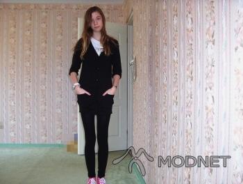 Kardigan H&M, Galeria Mazovia Płock; Legginsy H&M, Galeria Mazovia Płock