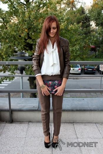 Torebka Vintage, Dyskont odzieżowy Mielec; Spodnie Vintage, Dyskont odzieżowy Mielec