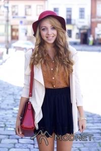 Spódnica, http://www.ianywear.com/; Koszula romwe, http://www.romwe.com