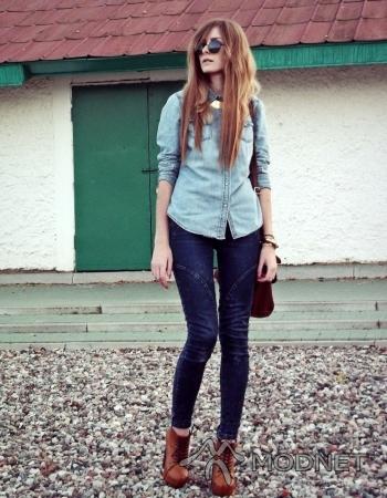 Spodnie Diverse, http://www.allegro.pl; Naszyjnik Japan Style, http://www.allegro.pl; Koszula H&M, http://www.allegro.pl