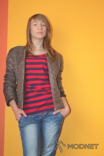 Kurtka 100% Fashion, http://www.butik.pl; Bluzka Butik, http://www.butik.net.pl