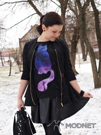 Bluzka Brzozowska Fashion, http://www.allegro.pl; Marynarka NO NAME, http://www.allegro.pl