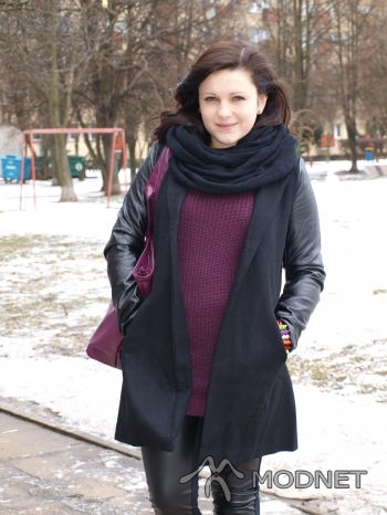 Sweter NO NAME, http://www.allegro.pl; Płaszcz Sheinside, http://www.allegro.pl