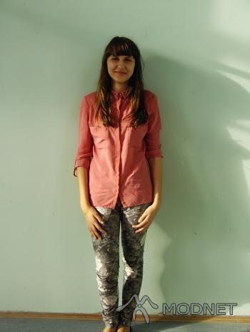 Spodnie, Omega Włoszczowa; Koszula Bershka, Echo Kielce
