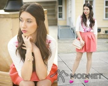 Spódnica Moho, http://www.facebook.com/moho.fashion; Bransoleta Primark, http://www.allegro.pl; Bluzka Rosewholesale, http://www.rosewholesale.com; Szpilki Lovely shoes, http://lovelyshoes.com