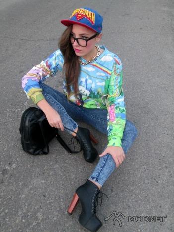 Legginsy 100%fe, Second Hand Puławy; Bluza 100% Fashion, Second Hand Puławy